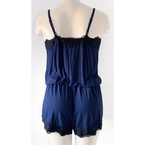 Soma Intimates & Sleepwear - SOMA SENSUOUS SCROLL MEDIEVEL BLUE SLEEP ROMPER S